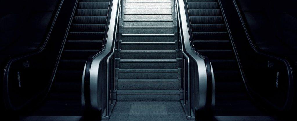 escalator, stairs, metro