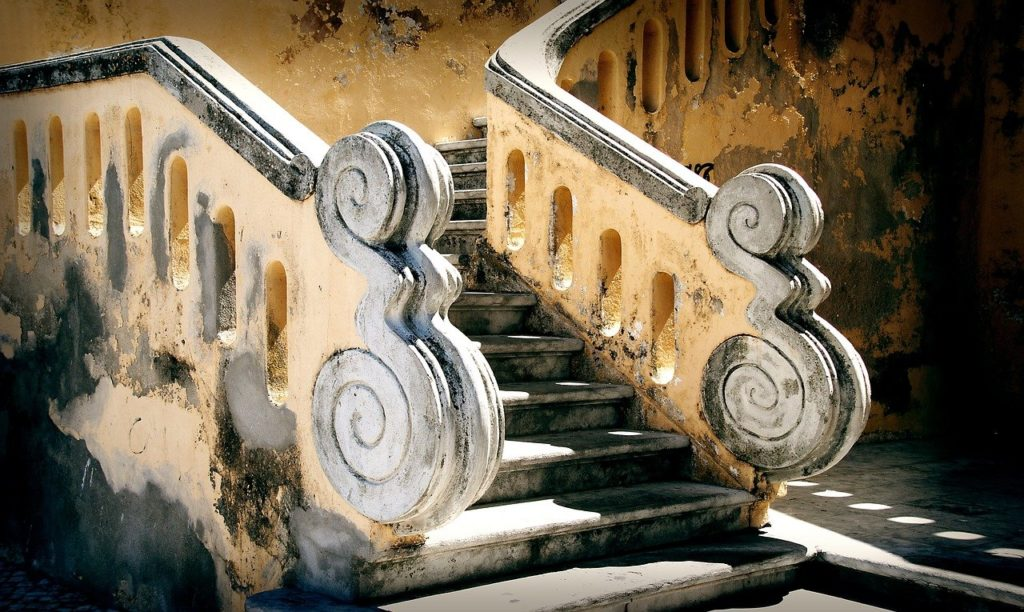 stairs, baroque, steps
